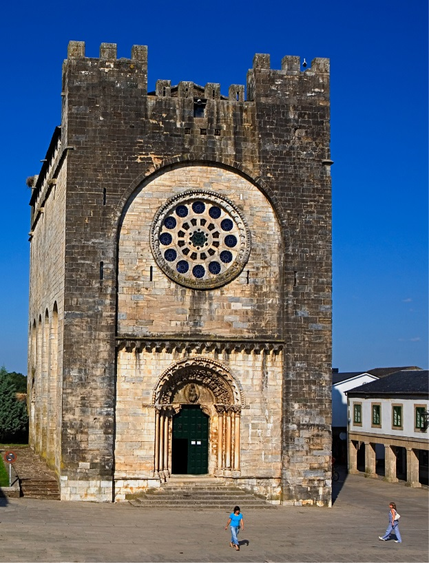 The Hike Life Camino with Roz Purcell and Uwalk San Juan Romanesque church, Portomarín